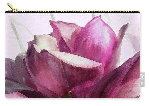 Carry-all Pouch featuring the digital art Tulip Trees by Gina Harrison