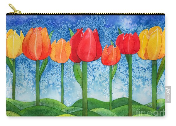 Tulip Trees Watercolor Carry-all Pouch
