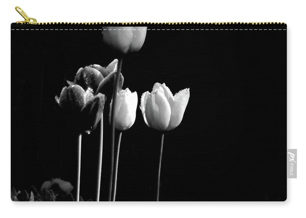 Tulips In Black Carry-all Pouch