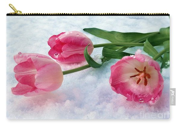Tulips In Snow Carry-all Pouch
