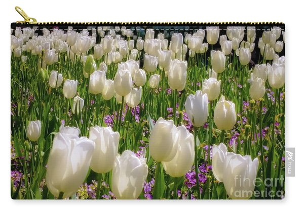 Tulips In White Carry-all Pouch