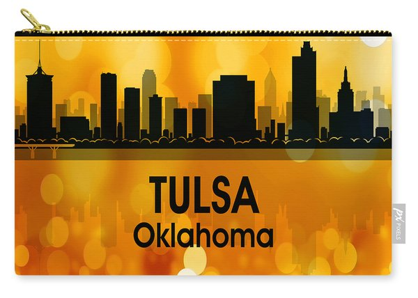 Tulsa Ok 3 Squared Carry-all Pouch