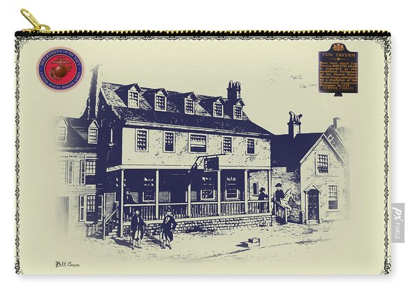 Tun Tavern - Birthplace Of The Marine Corps Carry-all Pouch
