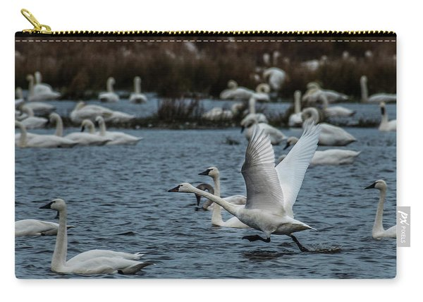 Tundra Swan And Liftoff Head Start Carry-all Pouch