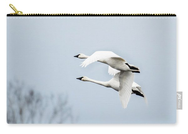 Tundra Swan Lift-off Carry-all Pouch