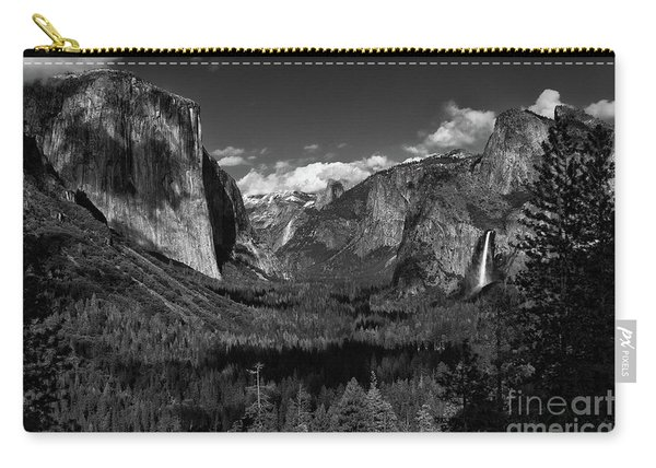 Tunnel View Black And White  Carry-all Pouch