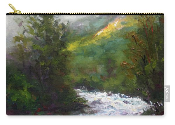 Carry-all Pouch featuring the painting Turbulence by Talya Johnson