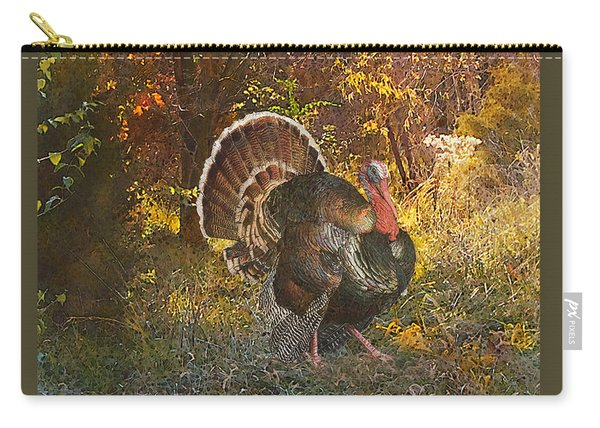 Turkey In The Woods Carry-all Pouch