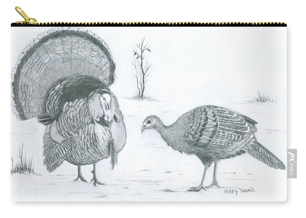 Turkey Sketch  Carry-all Pouch