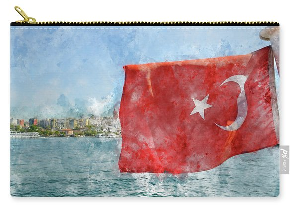 Turkish Flag Carry-all Pouch
