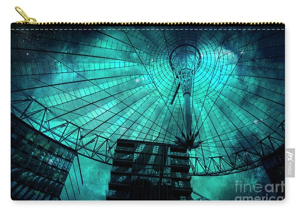 Turquoise Cosmic Berlin Carry-all Pouch