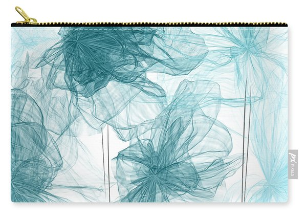 Turquoise In Sync Carry-all Pouch