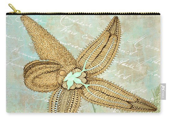 Turquoise Sea Starfish Carry-all Pouch