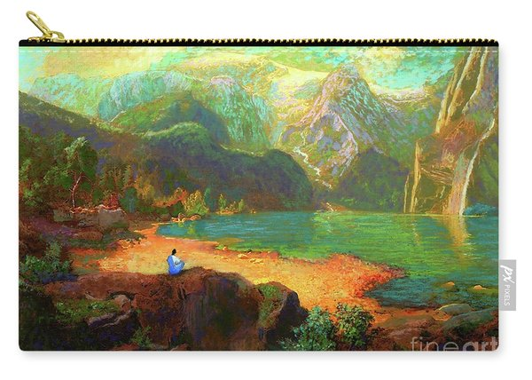 Turquoise Tranquility Meditation Carry-all Pouch