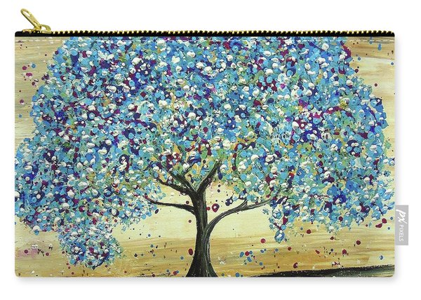 Turquoise Tree Carry-all Pouch