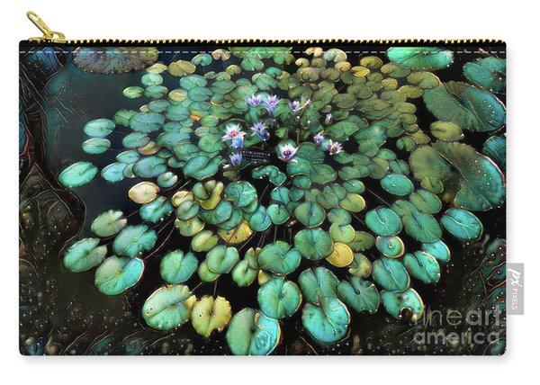 Turquoise Waterlilies 2 Carry-all Pouch