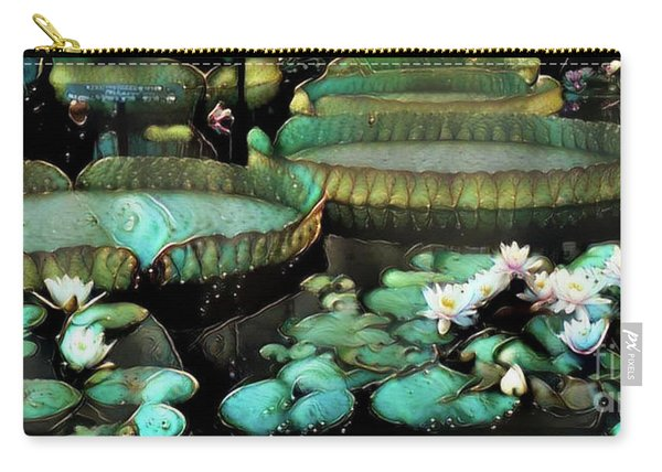 Turquoise Waterlilies 7 Carry-all Pouch