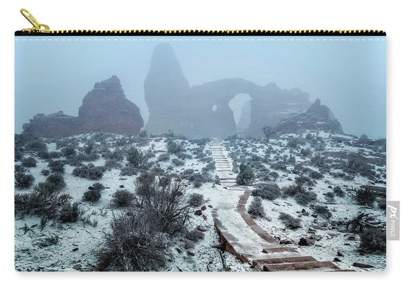 Turret Arch In The Fog Carry-all Pouch