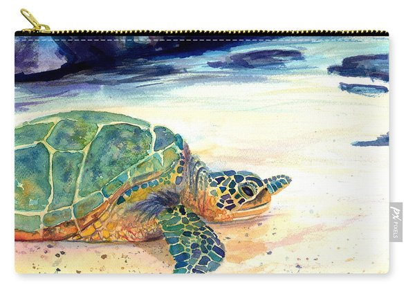 Turtle At Poipu Beach 5 Carry-all Pouch