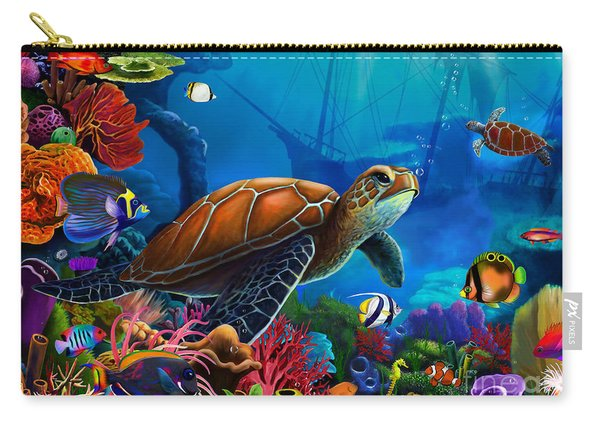 Turtle Domain Carry-all Pouch