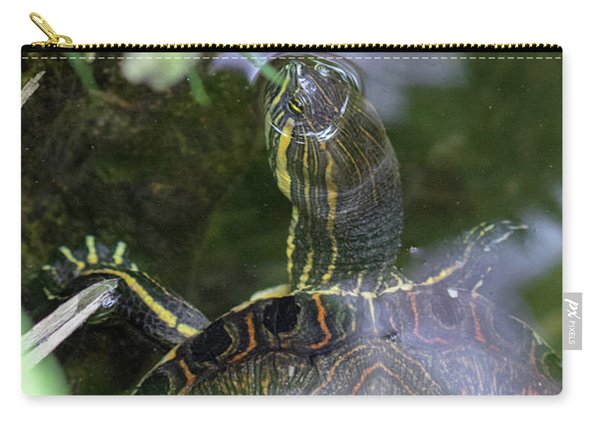 Turtle Getting Some Air Carry-all Pouch