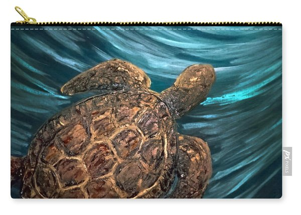 Turtle Wave Deep Blue Carry-all Pouch