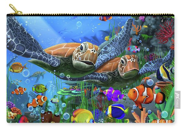Turtles Of The Deep Carry-all Pouch