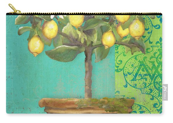 Tuscan Lemon Topiary - Damask Pattern 1 Carry-all Pouch