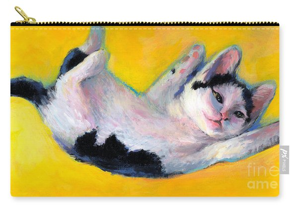 Tuxedo Kitten Painting Carry-all Pouch