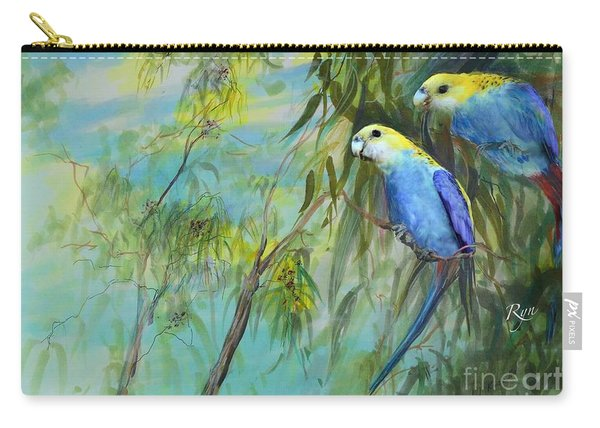 Two Pale-faced Rosellas Carry-all Pouch