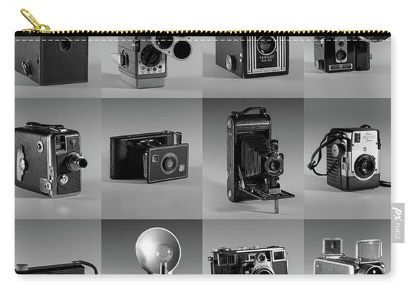 Twenty Old Cameras - Black And White Carry-all Pouch