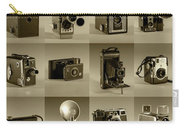 Twenty Old Cameras - Sepia Carry-all Pouch