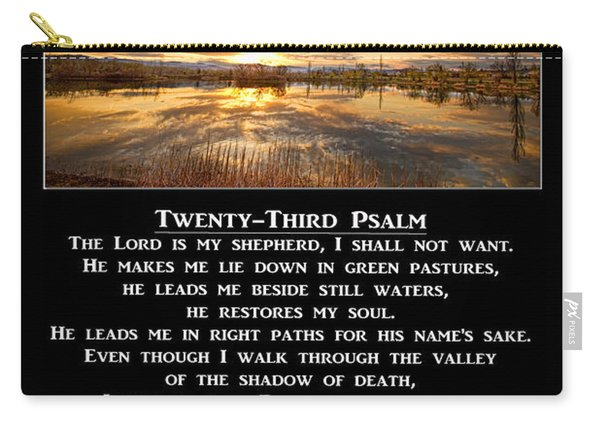 Twenty-third Psalm Prayer Carry-all Pouch