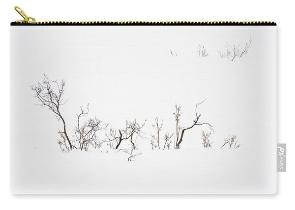 Twigs In Snow Carry-all Pouch