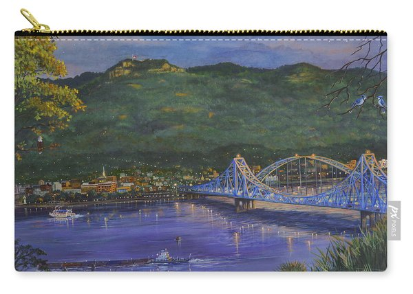 Twilight At Blue Bridges Carry-all Pouch
