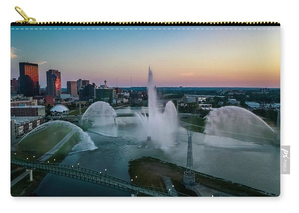 Twilight At The Fountains Carry-all Pouch