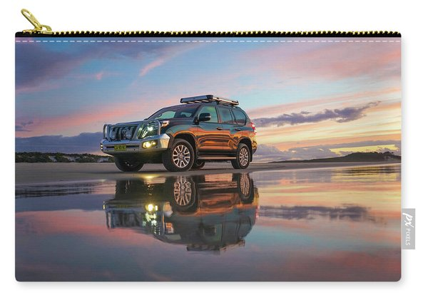 Twilight Beach Reflections And 4wd Car Carry-all Pouch