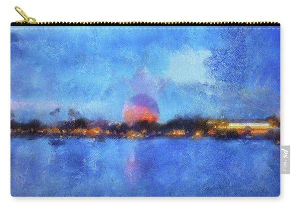 Twilight Epcot World Showcase Lagoon Wdw 02 Photo Art Mp Carry-all Pouch