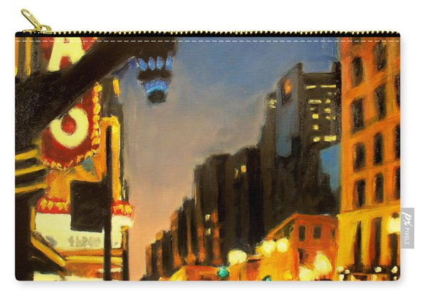 Twilight In Chicago - The Watcher Carry-all Pouch