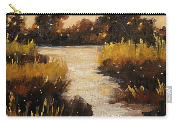 Twilight On The Marsh By Prankearts Carry-all Pouch