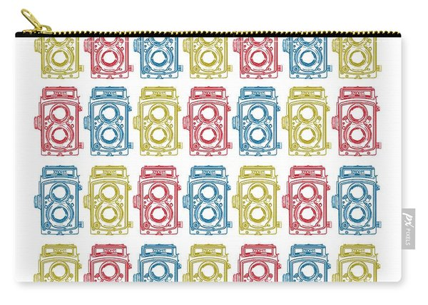 Twin Lens Camera Pattern Carry-all Pouch