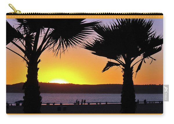 Twin Palms At Sunset Carry-all Pouch