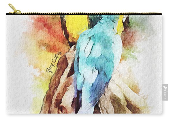 Twin Parrots Carry-all Pouch