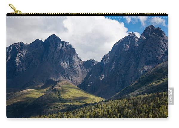 Carry-all Pouch featuring the photograph Twin Peaks In Mid-summer by Tim Newton