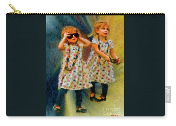 Twin Sunglasses Models Carry-all Pouch