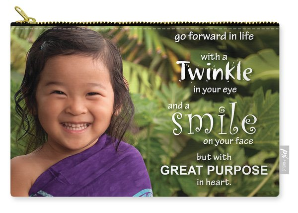 Twinkle Smile Carry-all Pouch