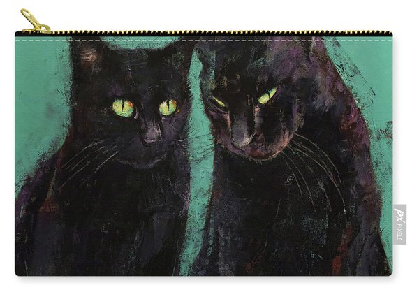 Two Black Cats Carry-all Pouch