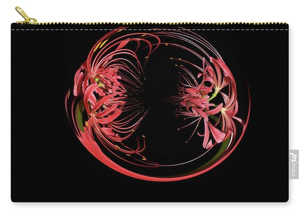 Two Blossom Red Spider Lily Orb Carry-all Pouch
