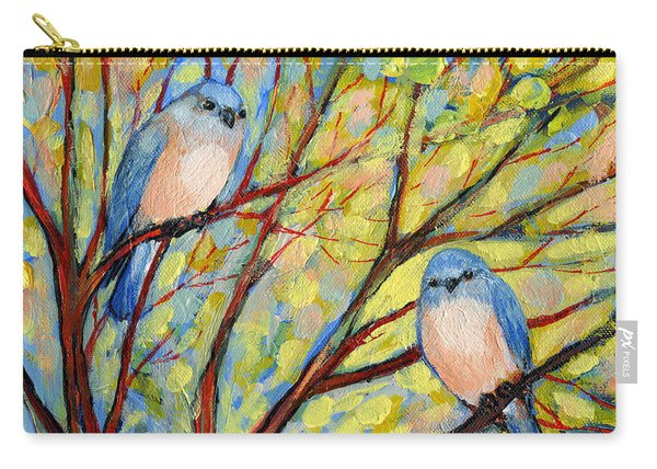 Two Bluebirds Carry-all Pouch