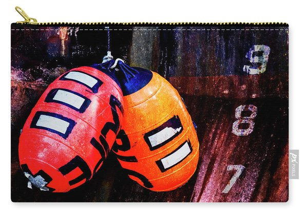 Two Buoys Left Of Depth Square Carry-all Pouch